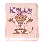 Little Monkey Kelly baby blanket