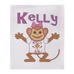 Little Monkey Kelly Throw Blanket