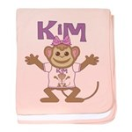 Little Monkey Kim baby blanket
