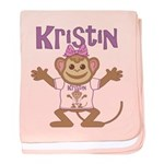 Little Monkey Kristin baby blanket