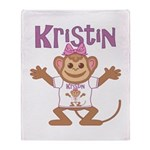 Little Monkey Kristin Throw Blanket