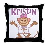 Little Monkey Kristin Throw Pillow
