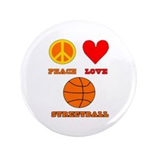 "Peace Love Streetball 3.5"" Button (100 pack)"