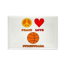 Peace Love Streetball Rectangle Magnet