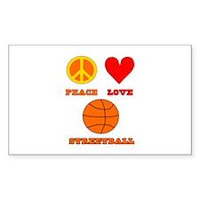 Peace Love Streetball Decal
