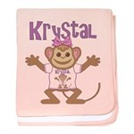 Little Monkey Krystal baby blanket