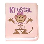 Little Monkey Krystal baby blanket