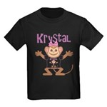 Little Monkey Krystal Kids Dark T-Shirt