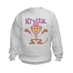 Little Monkey Krystal Kids Sweatshirt