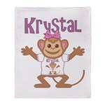 Little Monkey Krystal Throw Blanket