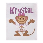 Little Monkey Krystal Throw Blanket