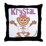 Little Monkey Krystal Throw Pillow