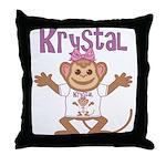 Little Monkey Krystal Throw Pillow