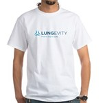 LUNGevity Logo White T-Shirt