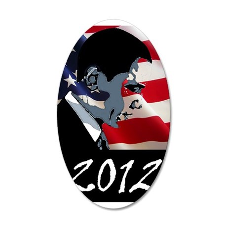 Obama 2012 22x14 Oval Wall Peel