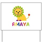 Amaya the Lion Yard Sign