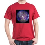 Full Moon Tree Mandala Black T-Shirt
