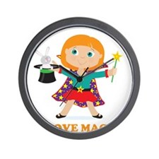 Girl Magician Wall Clock