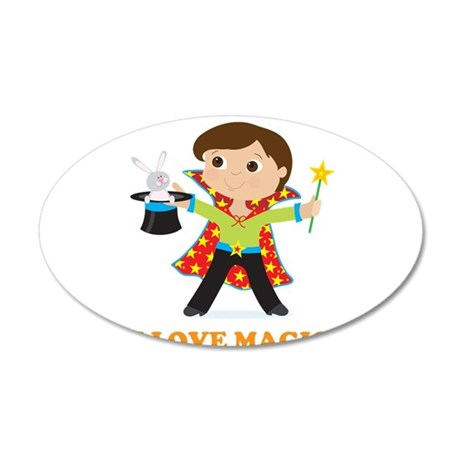 Boy Magician 38.5 x 24.5 Oval Wall Peel