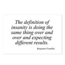 Benjamin Franklin quote 139 Postcards (Package of