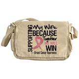 Support Wife Breast Cancer Messenger Bag