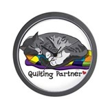 Quilting Partner Wall Clock