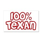 100% Texan Car Magnet 20 x 12