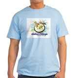 Global Village Men's Blue T-Shirt