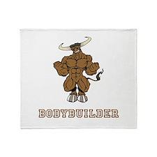 Bodybuilder Throw Blanket