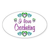 I Love Crocheting Decal