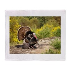 Wild Turkey Gobbler Throw Blanket