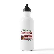 Firefighter Christmas Water Bottle