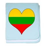 Lithuania Heart baby blanket