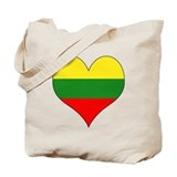 Lithuania Heart Tote Bag