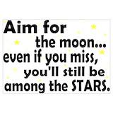 Aim for the moon Wall Art