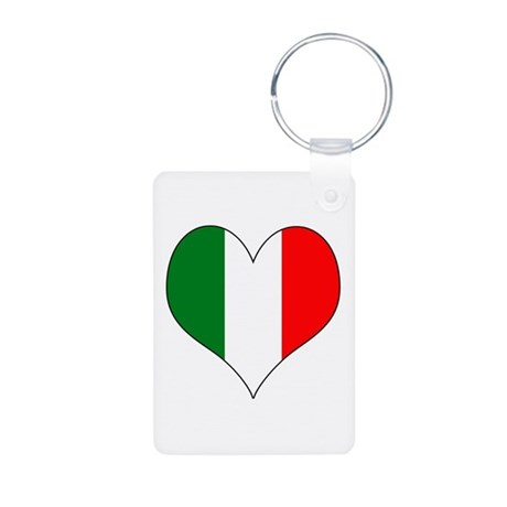 Italy Heart Aluminum Photo Keychain