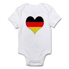 Germany Heart Infant Bodysuit