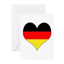 Germany Heart Greeting Cards (Pk of 10)
