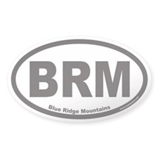 Blue Ridge Mountains BRM Euro Oval Decal