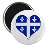 Quebec Heart Magnet
