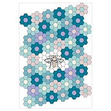 Honeybee Flowers Bluegreens