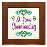 I Love Cheerleading Framed Tile