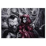 Funny Little red riding hood Wall Art