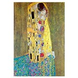 Gustav Klimt The Kiss Medium