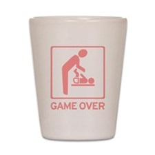 New Dad to be - Game over Dia Shot Glass