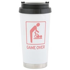 New Dad to be - Game over Dia Ceramic Travel Mug