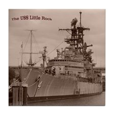 USS Little Rock Tile Coaster