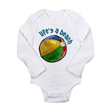 lifes a beach Long Sleeve Infant Bodysuit