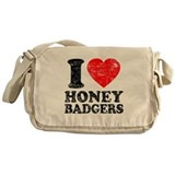 I Love Honey Badgers Messenger Bag