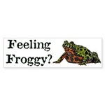 Feeling Froggy? Sticker (Bumper 10 pk)